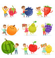 cute little children having fun and playing with vector image vector image
