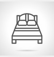 double bed black simple line icon vector image vector image