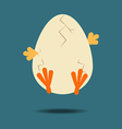 Easter Chicken Icon vector image vector image