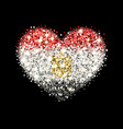 egyptflag sparkling heart badge vector image
