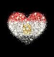 egyptflag sparkling heart badge vector image vector image