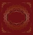 elegant background with decorative mandala design vector image vector image