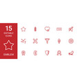 emblem icons vector image vector image