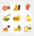Food and drinks flat design icon vector image vector image