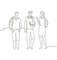 groupmates - one line design style vector image vector image