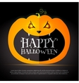 Halloween Party Design template with pumpkin vector image vector image