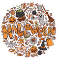 happy halloween greeting card holiday vector image