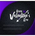 Happy valentines day invitation card design
