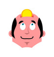 head of piggy bank businessman and coin business vector image