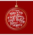 holiday Christmas ball vector image vector image