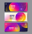 hologram abstract background template banner vector image vector image