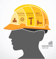 Infographic Template with construction concept