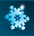 isometric snowflake icon with various perspective vector image vector image