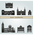 Leon landmarks and monuments vector image vector image