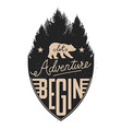 let adventure begin vector image