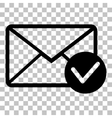 Mail sign with allow mark Flat style vector image