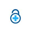 medical security logo icon design vector image