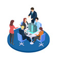 meeting in a construction company business vector image vector image