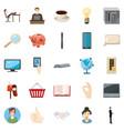 money bag icons set cartoon style vector image vector image