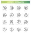natural organic cosmetics vegan food symbols vector image