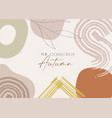 new autumn collection trendy frame banner vector image
