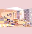 nursery baroom interior vector image vector image