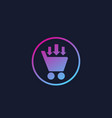 purchase order commerce icon vector image vector image