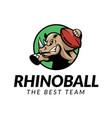 rhino football logo vector image vector image