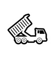 sand truck icon design template isolated vector image vector image