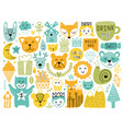 scandinavian elements vector image vector image