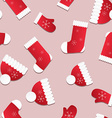 Seamless Christmas pattern Endless texture with vector image