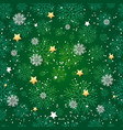 seamless pattern with snowflakes holiday vector image