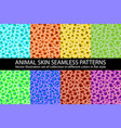 set color animal skin seamless pattern texture vector image vector image