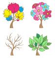 set decorative trees vector image vector image