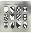 Set of shields black and white 2 vector image vector image