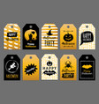 set tags and labels with happy halloween vector image vector image