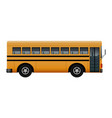 side of school bus mockup realistic style vector image