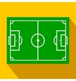 soccer field layout flat icon vector image