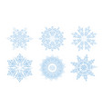sow ison set snowflake winter holiday lacy sign vector image vector image