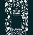 spring flowers design template scandinavian vector image vector image