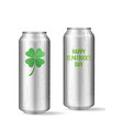 st patricks day concept realistic beer set vector image