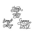 summer party script text design template vector image