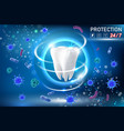 teeth protection realistic vector image