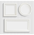 Three White Frames Set vector image