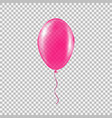 transparent pink helium balloon vector image