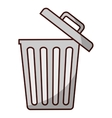 trash can icon image vector image