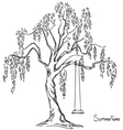 tree with swing vector image vector image