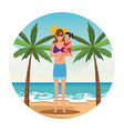 vacation on the beach vector image