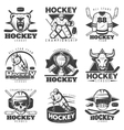 Vintage Hockey Labels Set vector image vector image