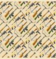 weapons guns pistols submachine assault rifles vector image